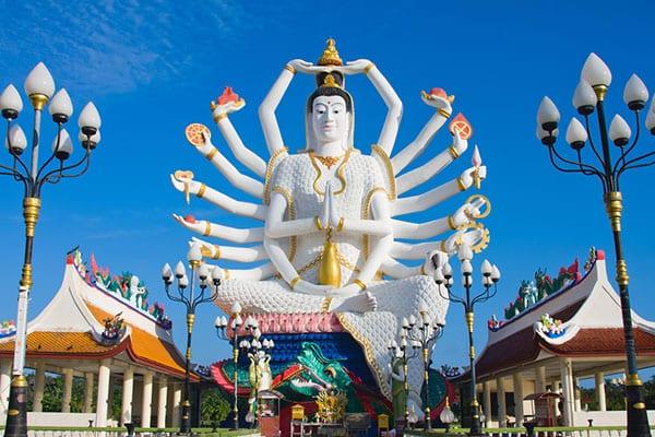 Koh samui location de villa avec piscine - temple boudhiste koh samui - la thailande avec un ado - voyage en famille