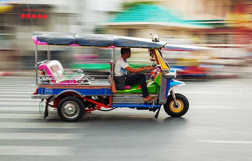 Budget thailande en famille - budget transport thailande- tuktuk-bangkok