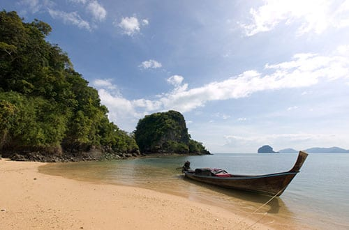 koh yao famille - plage thailande - bateau traditionnel
