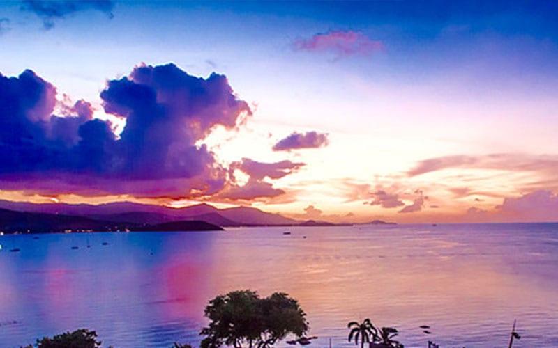 villa piscine koh samui - coucher de soleil - tropique - louer une maison en thailande