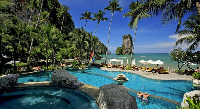 Thailande - krabi - lux - piscine - paysage - mer - tropique
