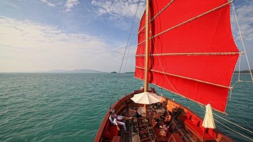 koh samui en famille-excursion bateau-jonque chinoise-diner croisiere-thailande
