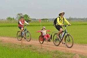 vélo sukhothai - que faire à sukhothai avec des enfants