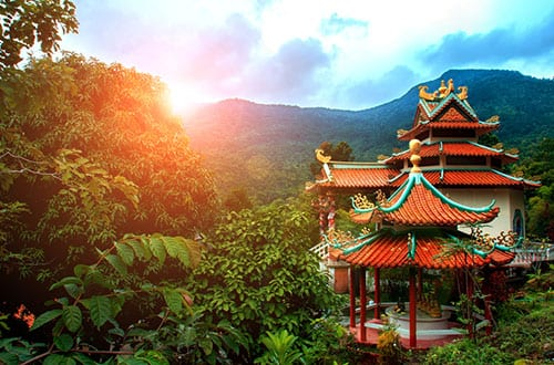 thailand-koh-phangan- temple chinois - pagode - activité culturelle à koh phangan
