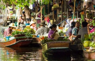 marches flottants de bangkok - bangkok en famille - excursion à bangkok