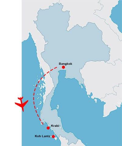 parcours-itineraire-thailande-circuit-carte-Circuit thailande en famille