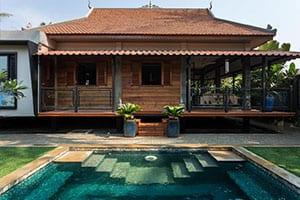 Voyage en famille au Cambodge - villa - maison -angkor - piscine - jardin