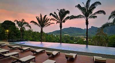 hôtel luxe-charme-paysage-piscine a débordement