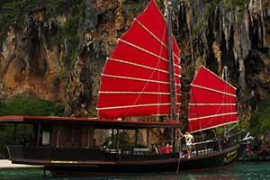 jonque chinoise en thailande - croisiere thailande avec des enfants - bateau de luxe mer andaman