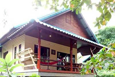 Location de maison pas cher koh phangan- double bungalow