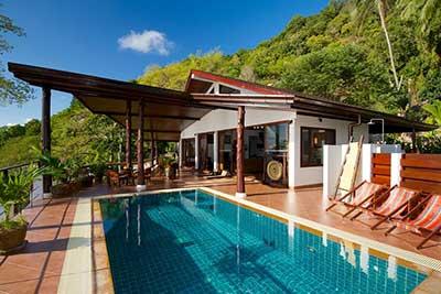 Location de maison koh tao - Villa avec piscine koh tao thailande