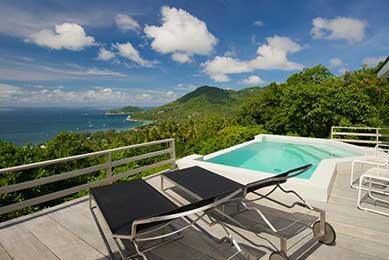 location maison famille koh tao - thailande - piscine vue mer - koh tao en famille