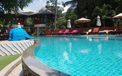 hotel pas cher koh tao avec piscine - thailande avec des ados - hotel jardin exterieur koh tao