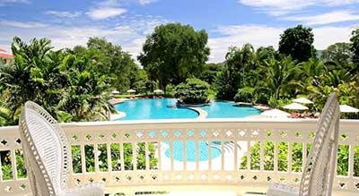 Kanchanaburi avec des enfants - hotel piscine thailande