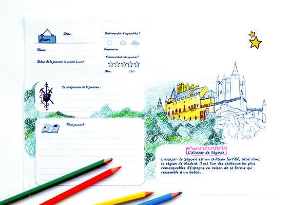 carnet de voyage Enfant - crayons - feutres - coloriage-histoire-culture