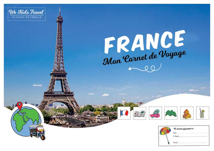 Carnet de voyage enfant-France-a imprimer-illustration-BD-icone-sympa-amusant-ludique