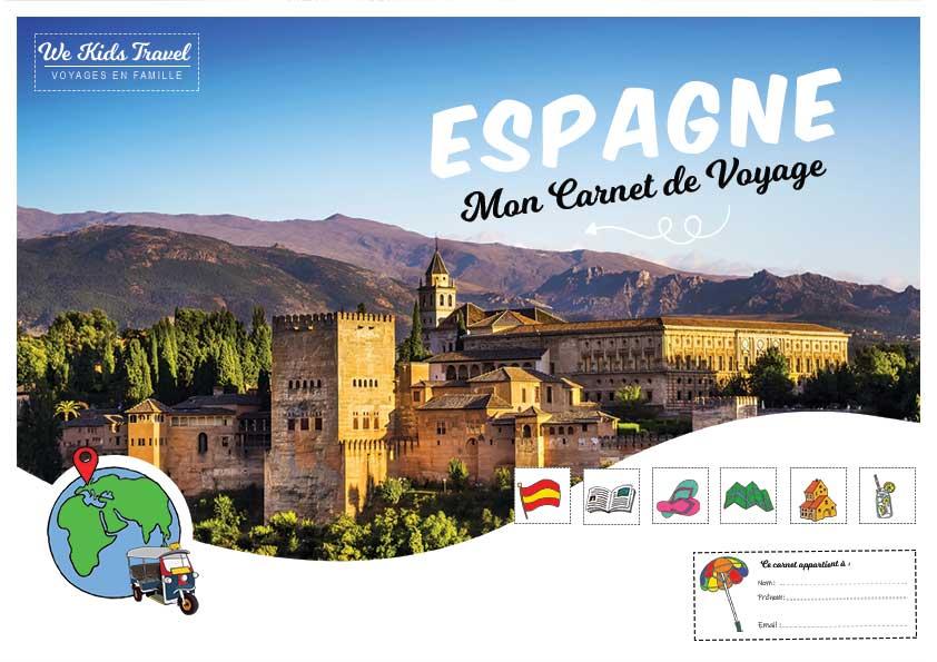 carnet de voyage Espagne - enfant - illustré - amusant - photo -dessin - guide - a imprimer